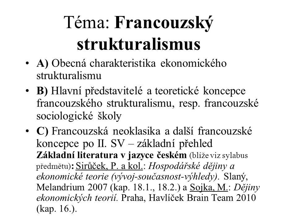 Téma: Francouzský strukturalismus