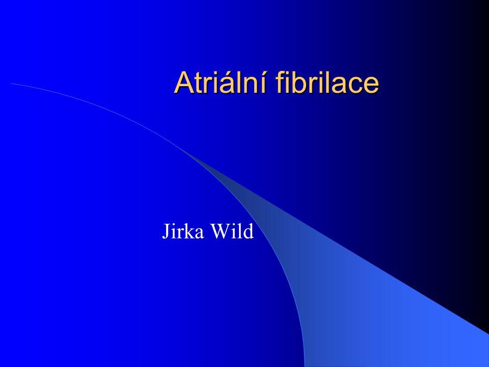 Atriální fibrilace Jirka Wild