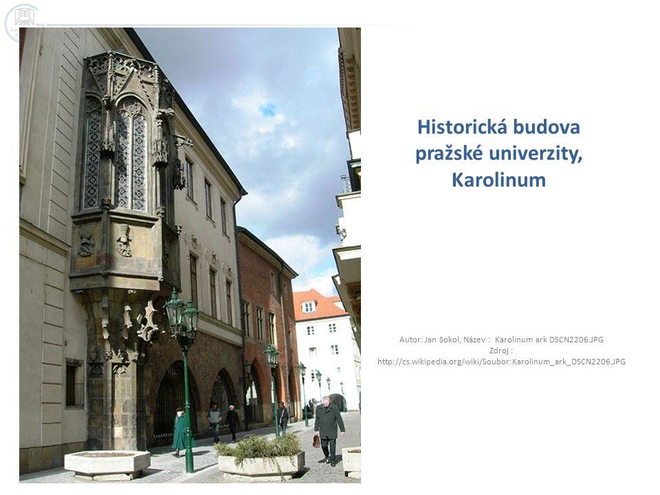 Historická budova pražské univerzity, Karolinum