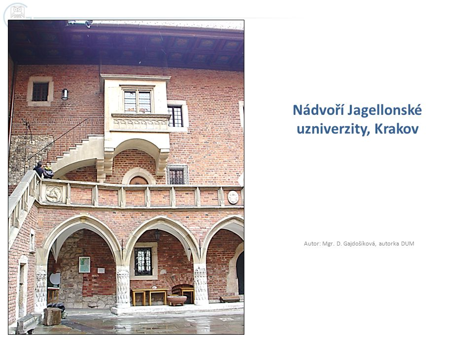 Nádvoří Jagellonské uzniverzity, Krakov