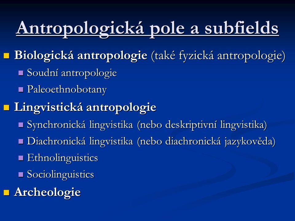Antropologická pole a subfields