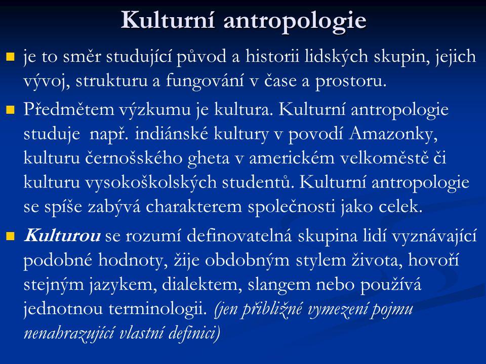 Kulturní antropologie
