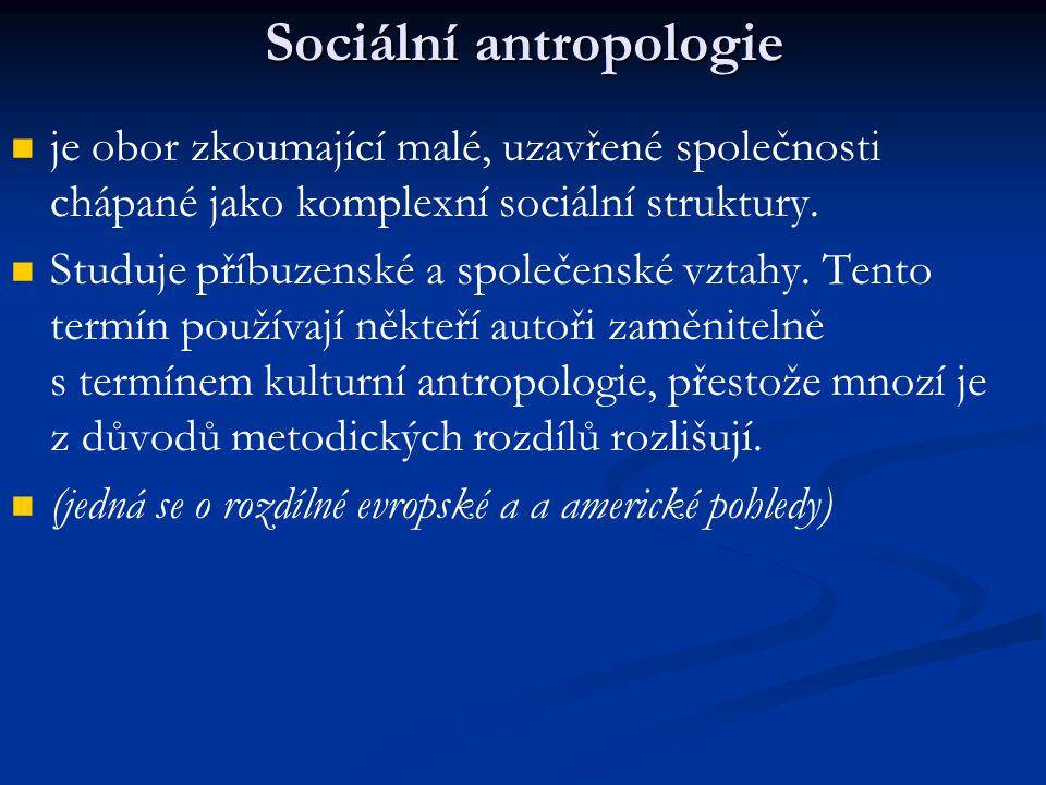 Sociální antropologie