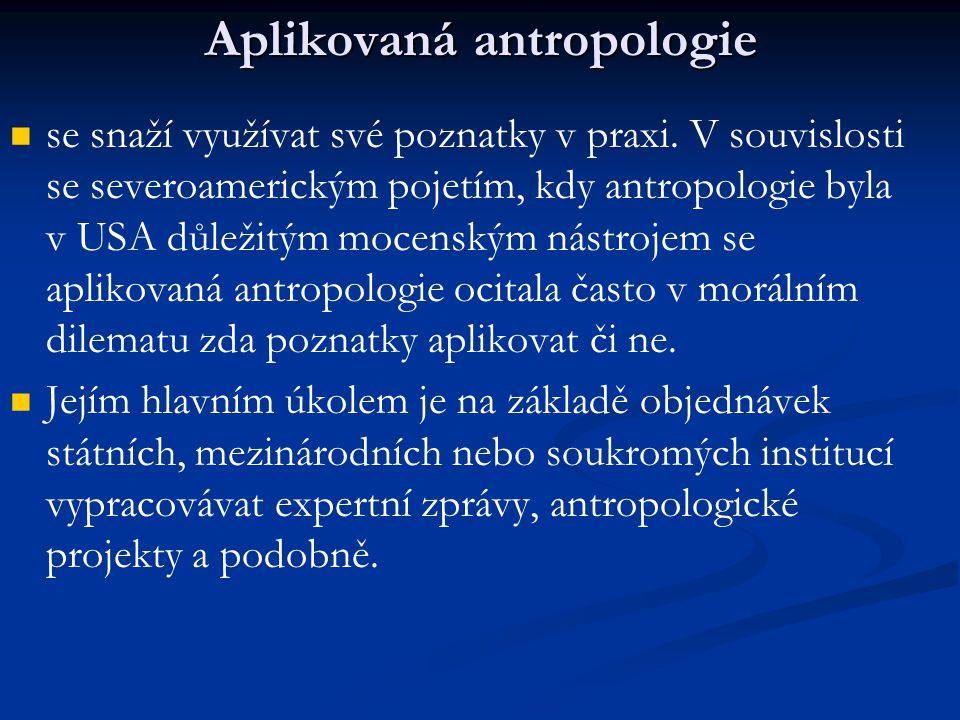 Aplikovaná antropologie