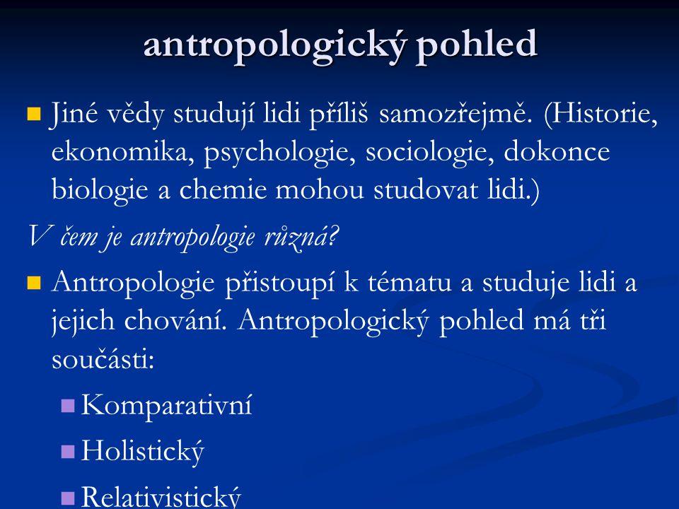 antropologický pohled