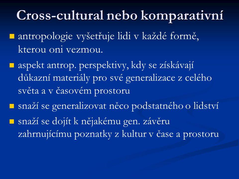 Cross-cultural nebo komparativní