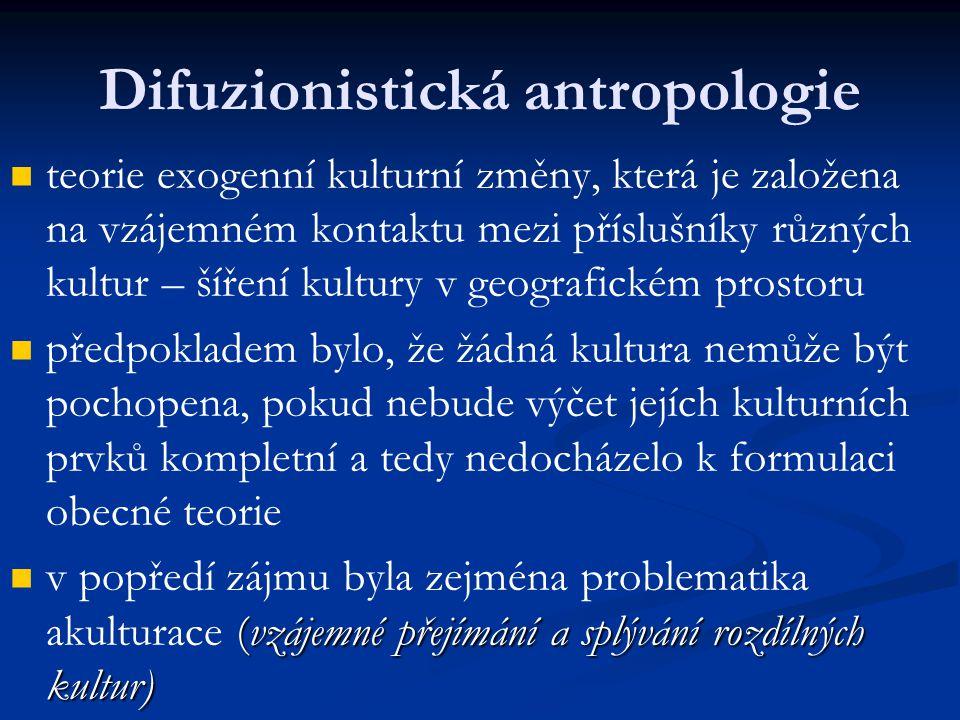 Difuzionistická antropologie