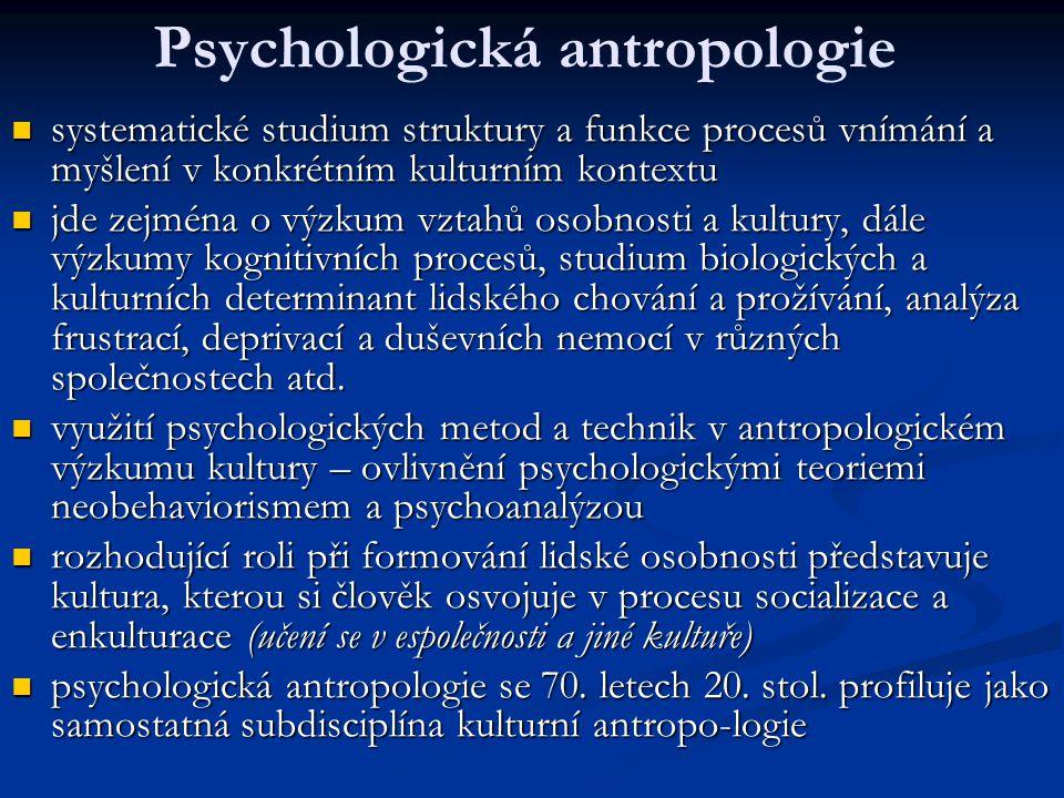 Psychologická antropologie
