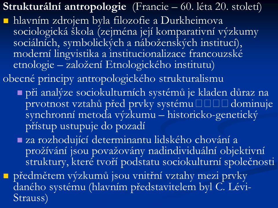 Strukturální antropologie (Francie – 60. léta 20. století)