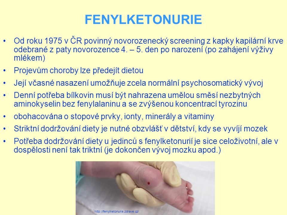 FENYLKETONURIE