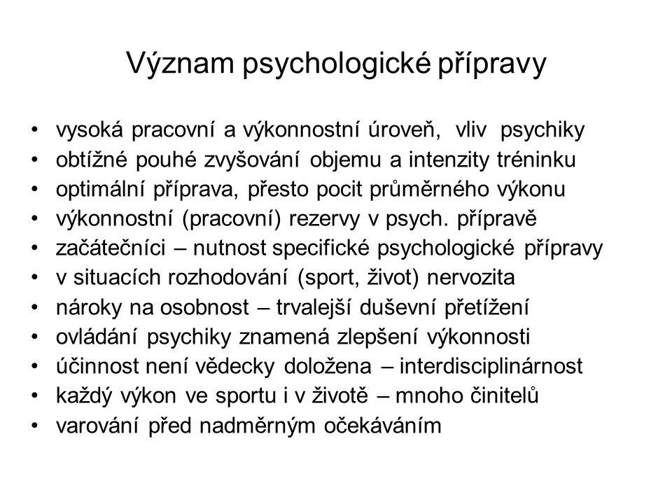 Význam psychologické přípravy