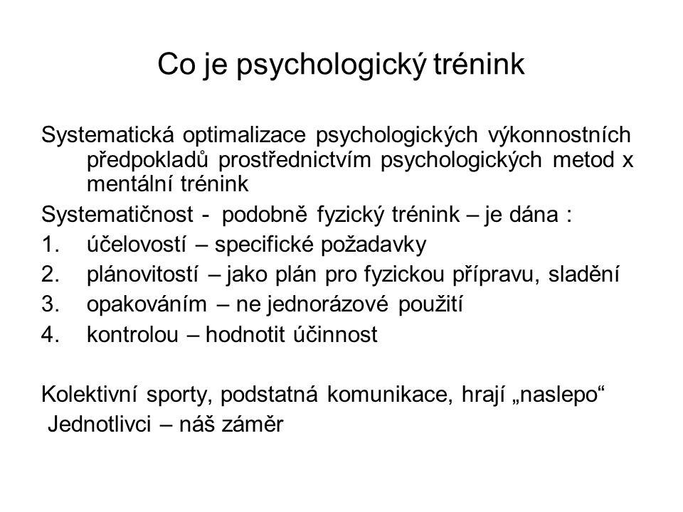 Co je psychologický trénink