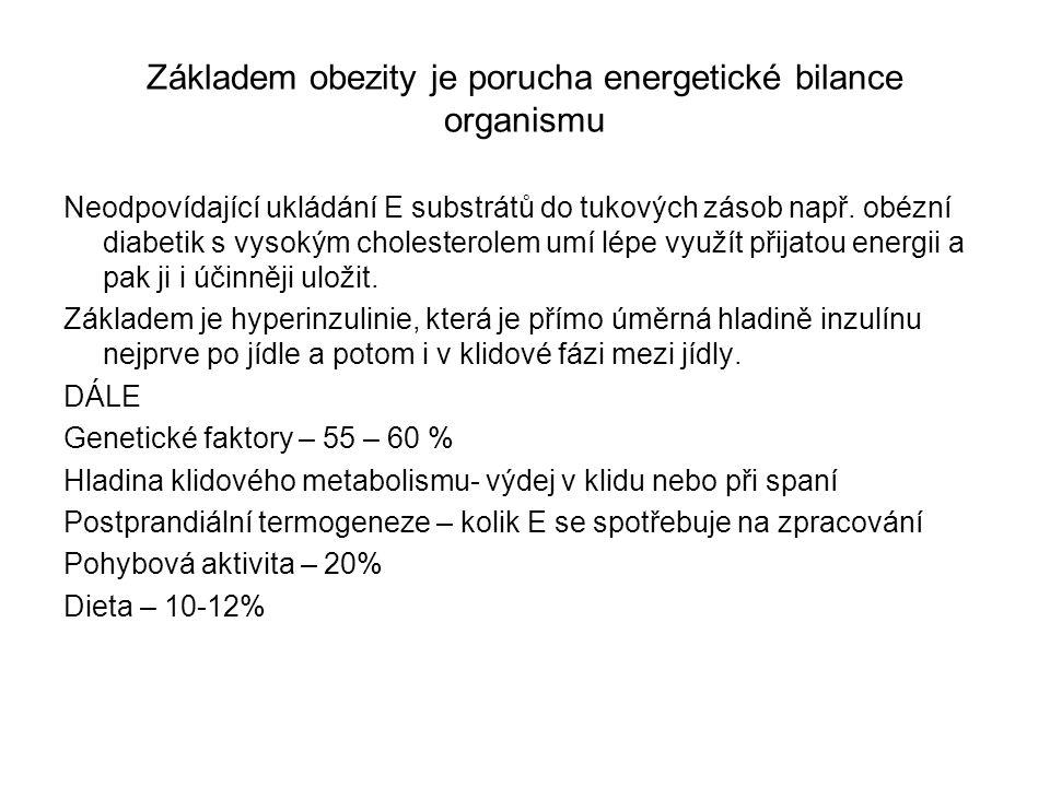 Základem obezity je porucha energetické bilance organismu