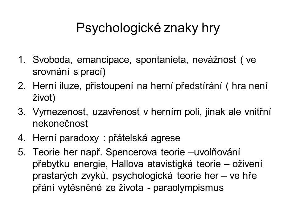 Psychologické znaky hry