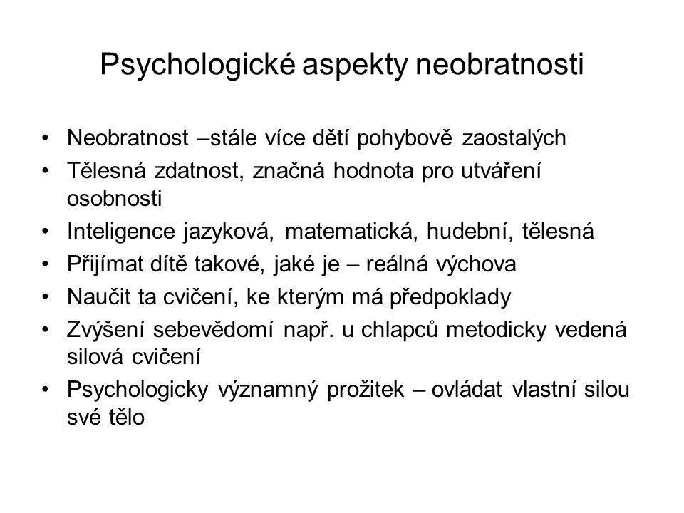 Psychologické aspekty neobratnosti
