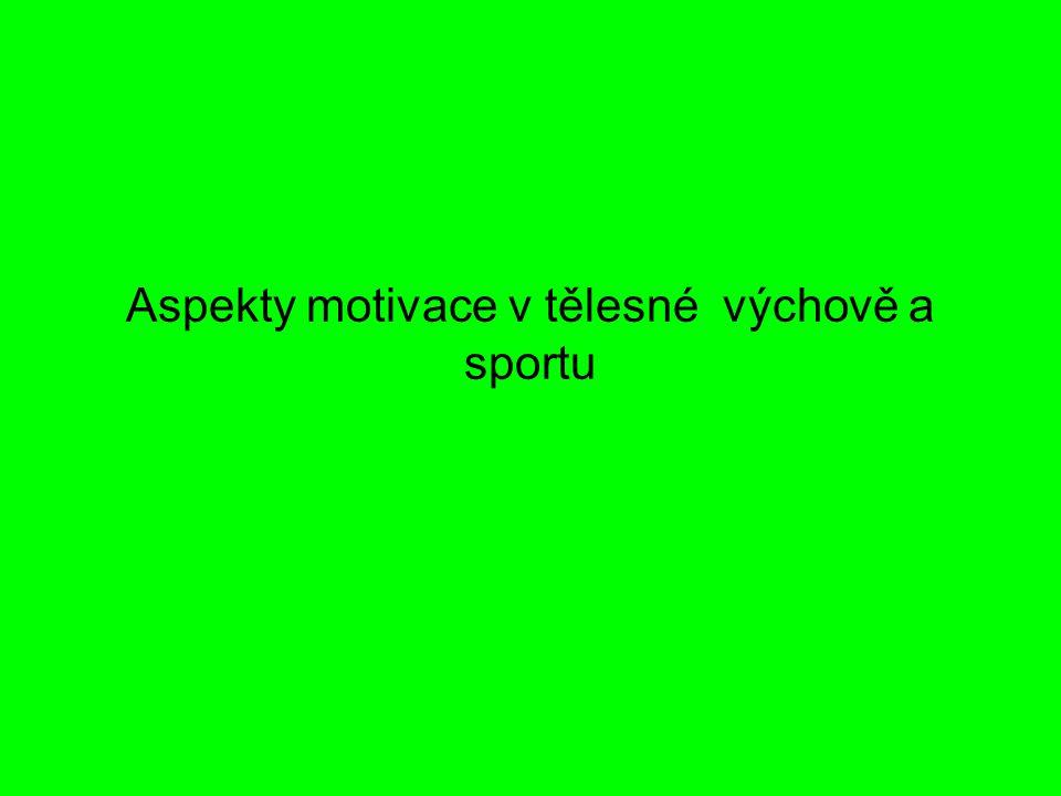 Aspekty motivace v tělesné výchově a sportu