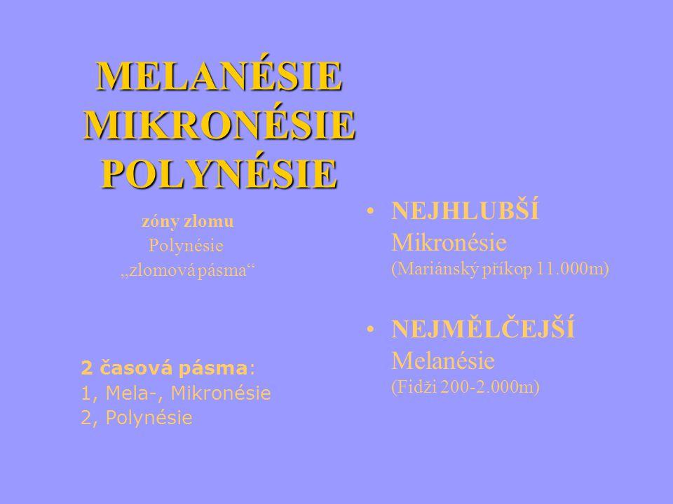 MELANÉSIE MIKRONÉSIE POLYNÉSIE