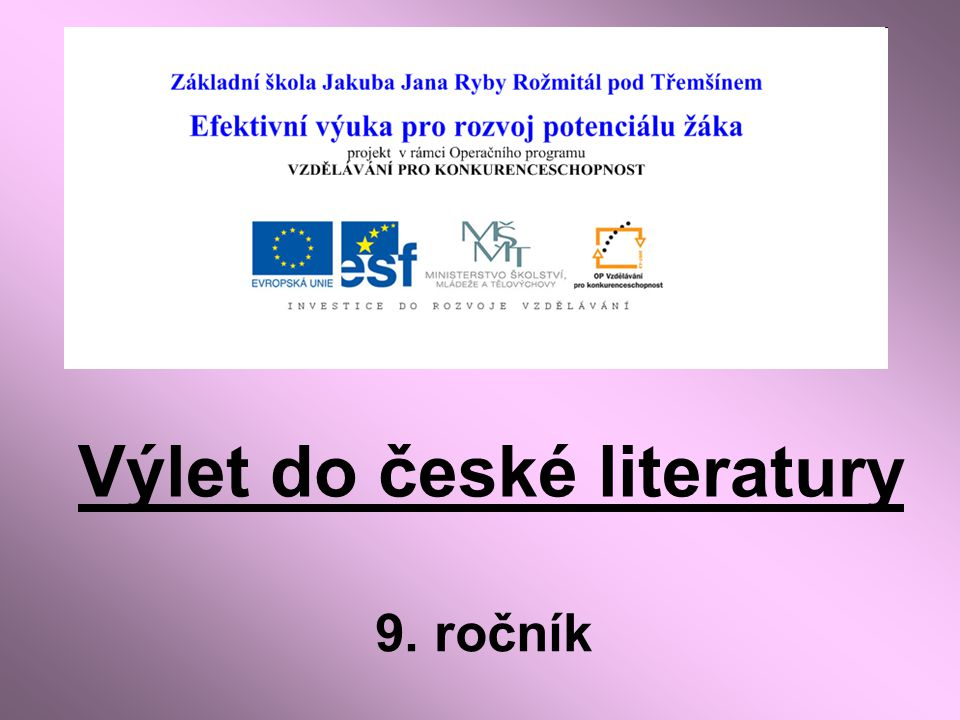 Výlet do české literatury