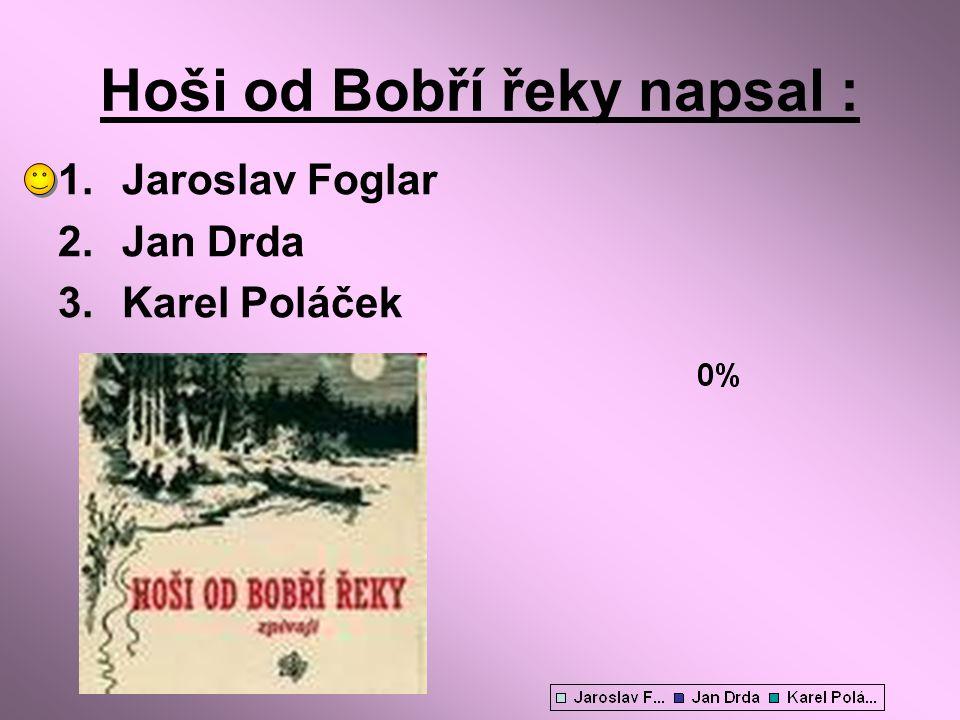 Hoši od Bobří řeky napsal :