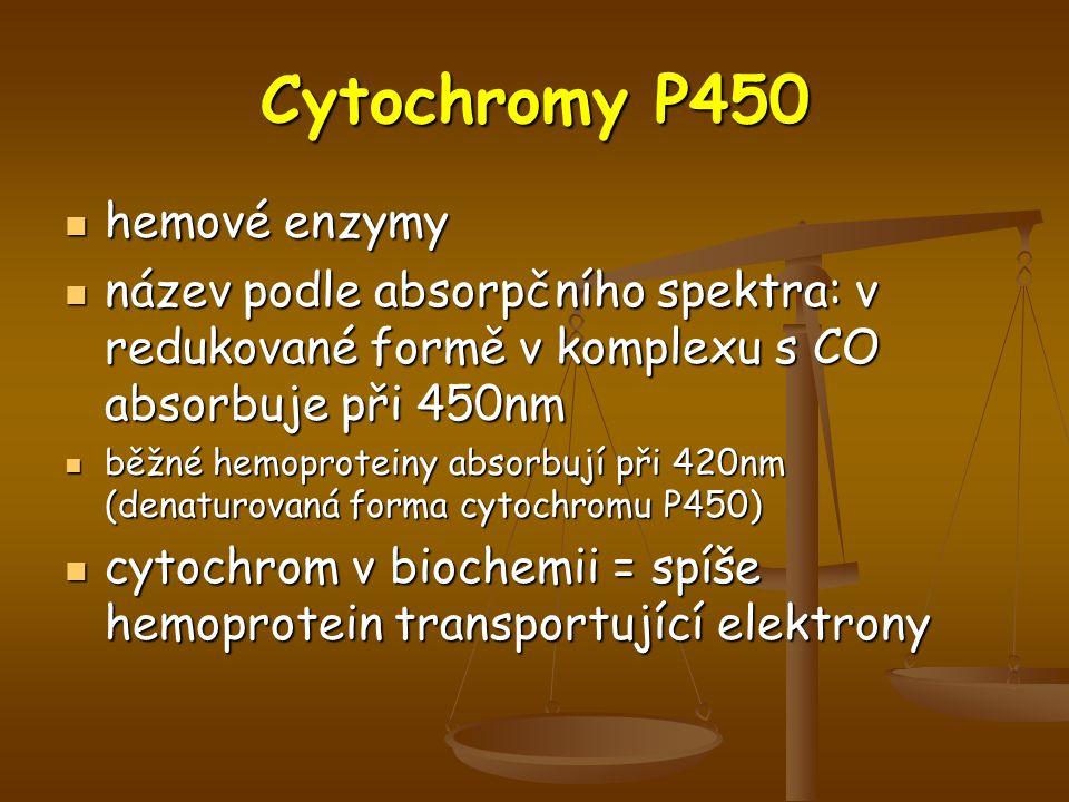 Cytochromy P450 hemové enzymy