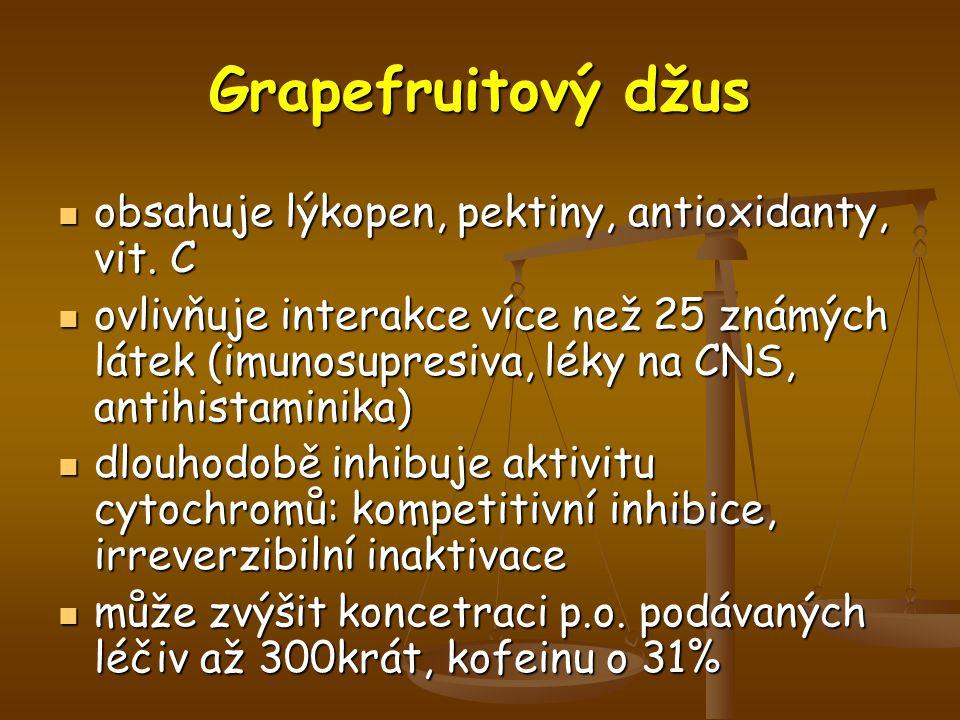 Grapefruitový džus obsahuje lýkopen, pektiny, antioxidanty, vit. C