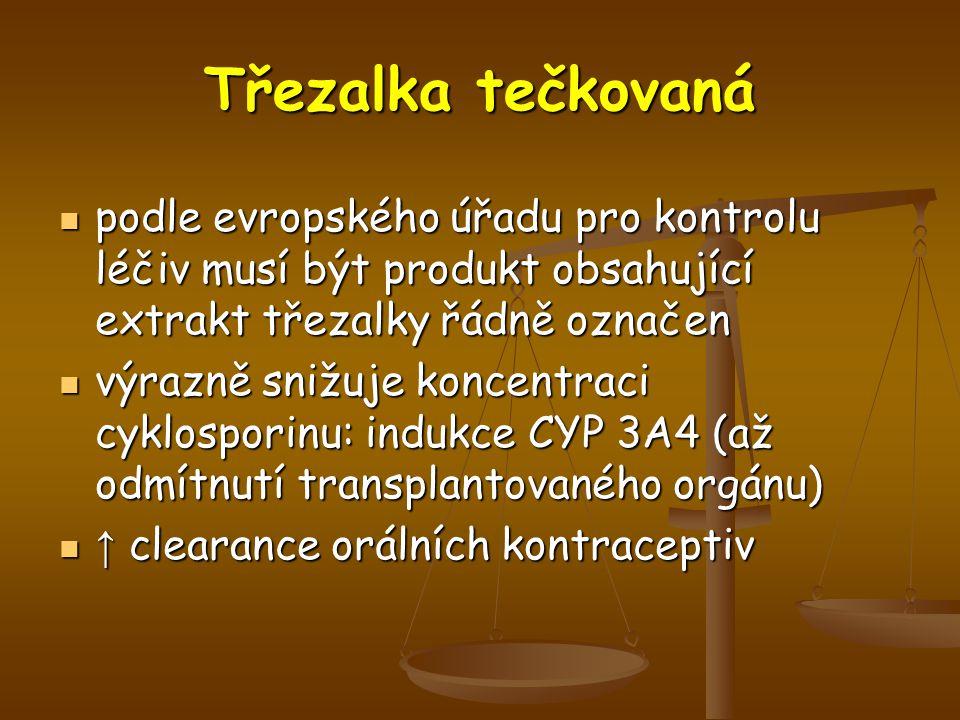 Třezalka tečkovaná podle evropského úřadu pro kontrolu léčiv musí být produkt obsahující extrakt třezalky řádně označen.