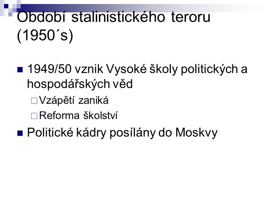 Období stalinistického teroru (1950´s)