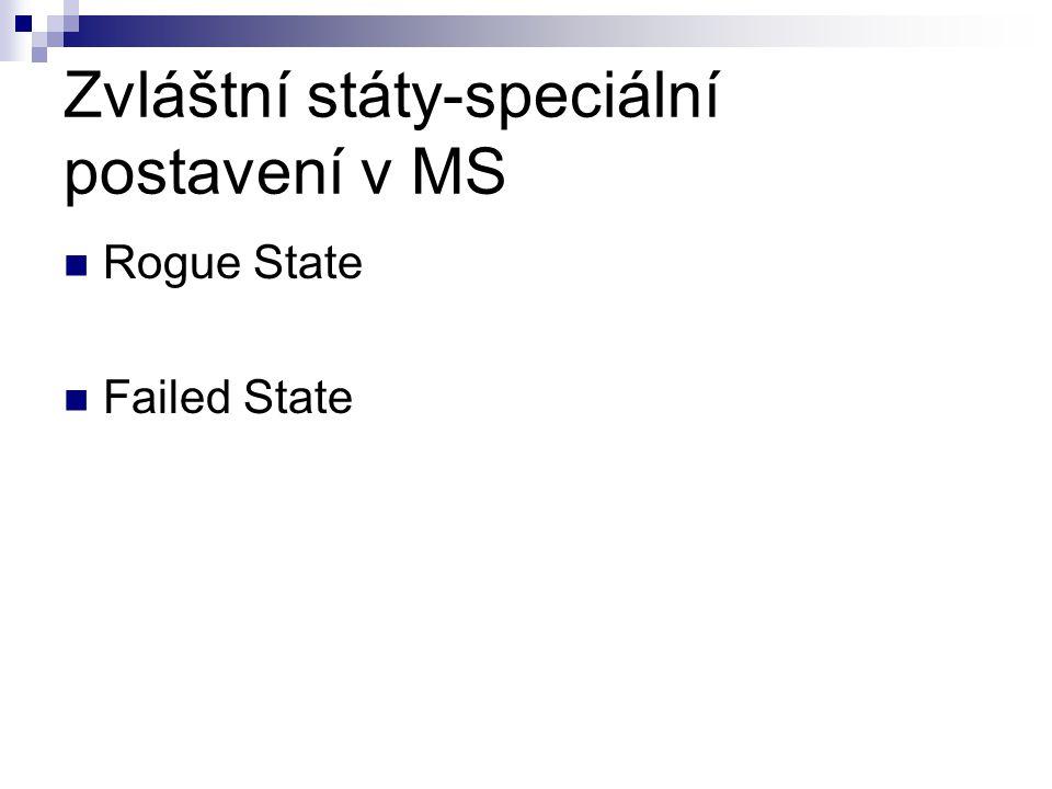 Zvláštní státy-speciální postavení v MS