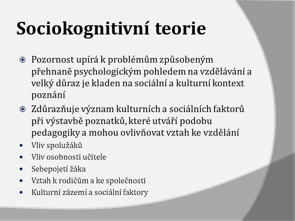 Sociokognitivní teorie
