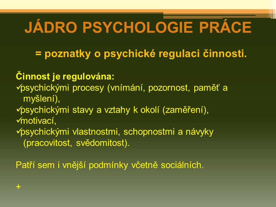 JÁDRO PSYCHOLOGIE PRÁCE