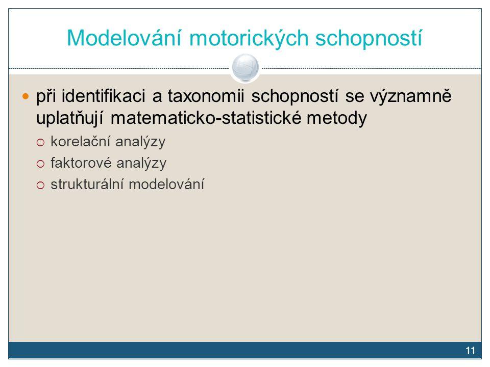 Modelování motorických schopností