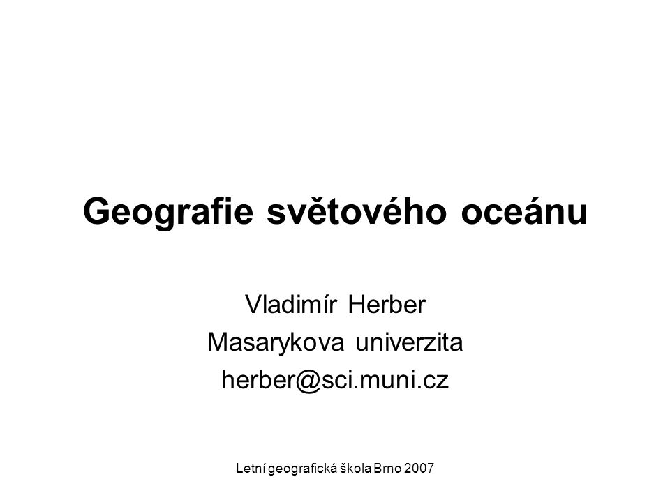 Geografie světového oceánu