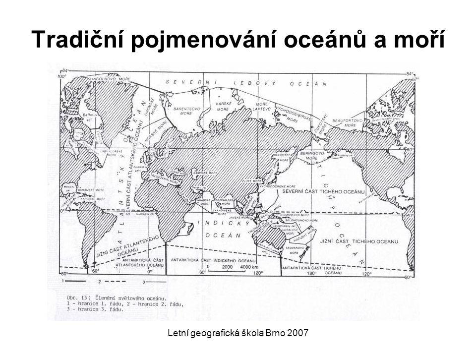 Tradiční pojmenování oceánů a moří