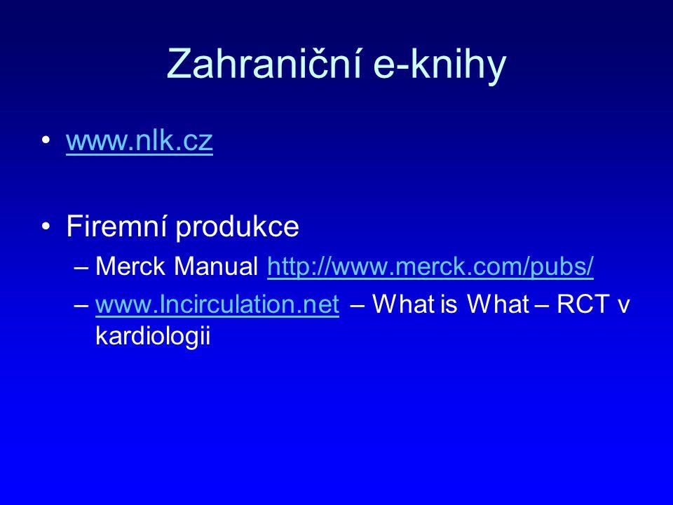 Zahraniční e-knihy www.nlk.cz Firemní produkce