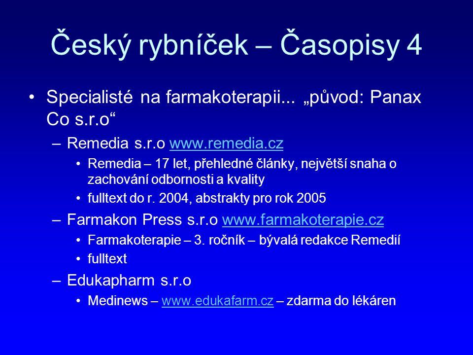 Český rybníček – Časopisy 4
