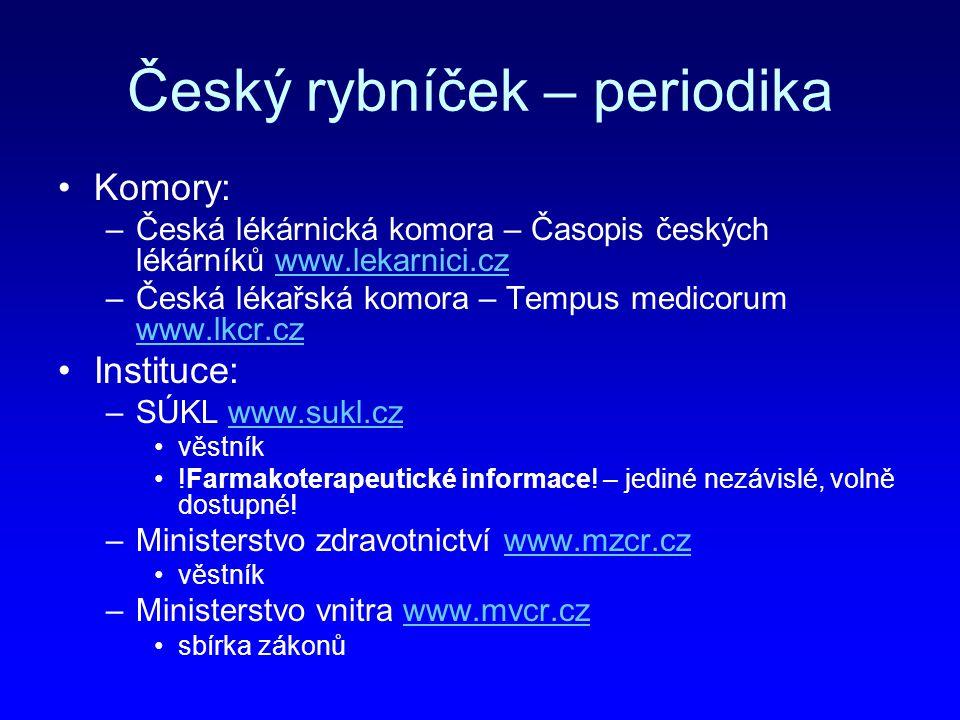 Český rybníček – periodika