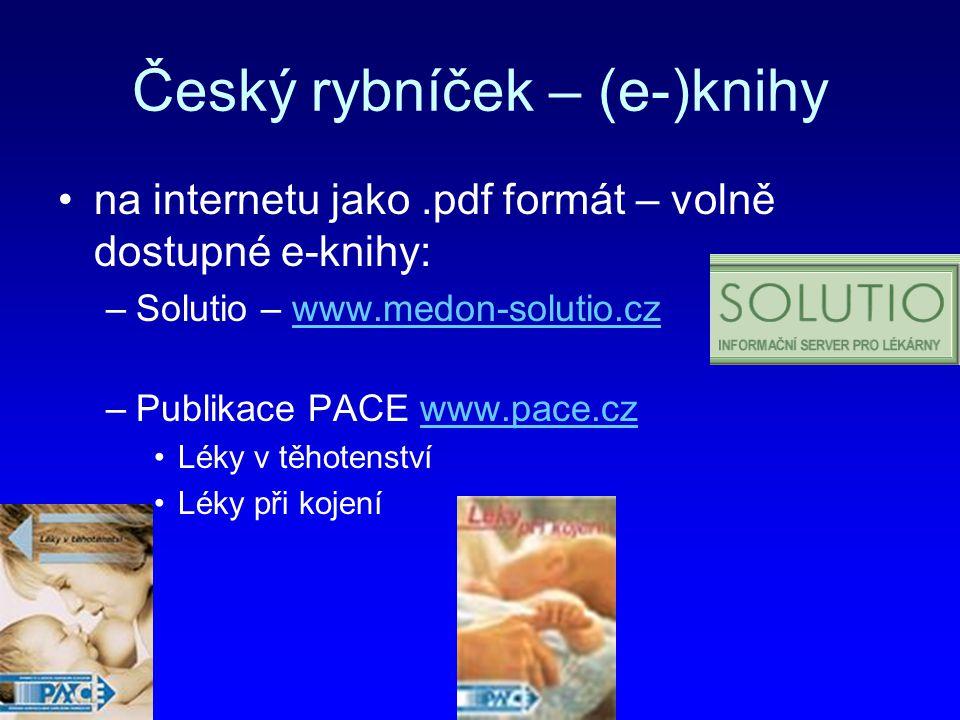 Český rybníček – (e-)knihy