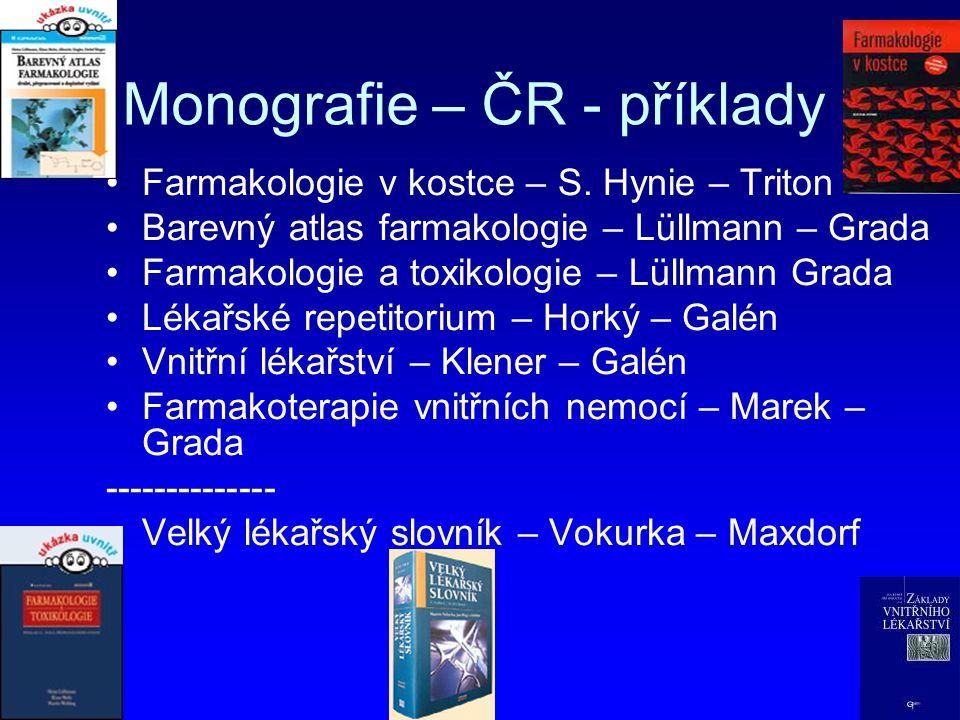Monografie – ČR - příklady