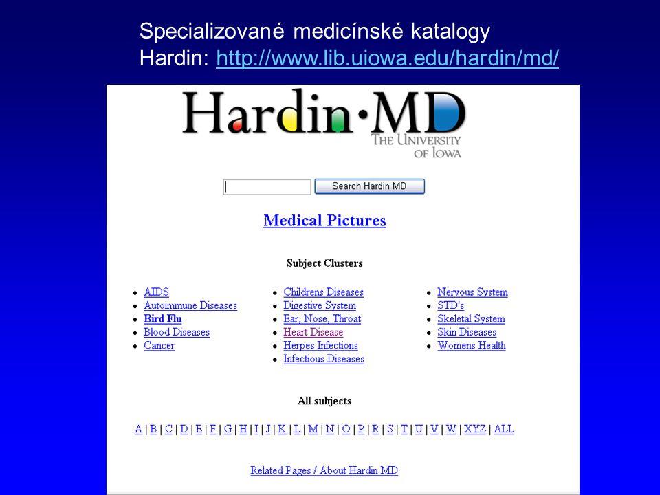 Specializované medicínské katalogy