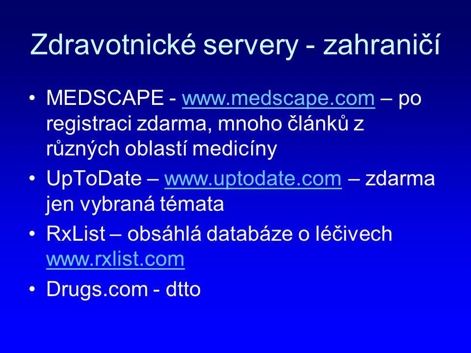 Zdravotnické servery - zahraničí