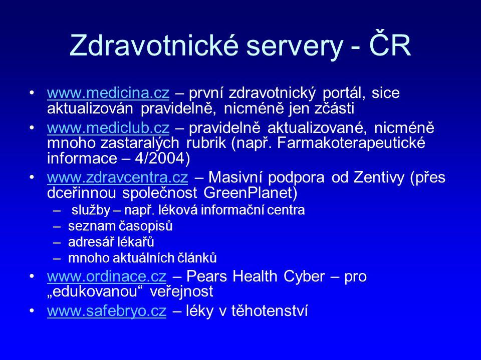 Zdravotnické servery - ČR