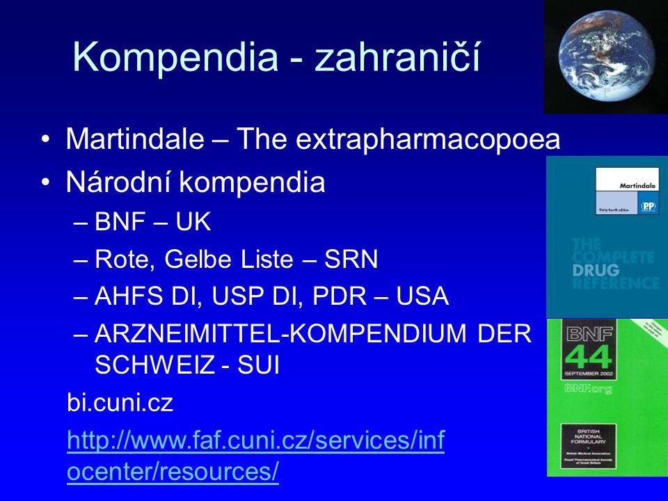 Kompendia - zahraničí Martindale – The extrapharmacopoea