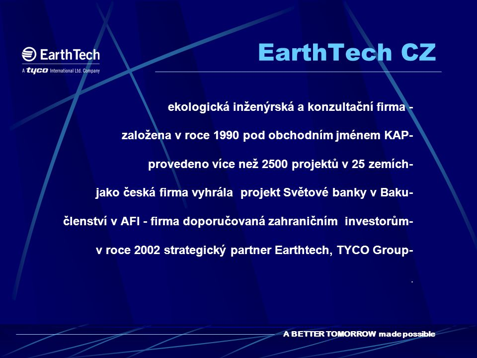EarthTech CZ ekologická inženýrská a konzultační firma -