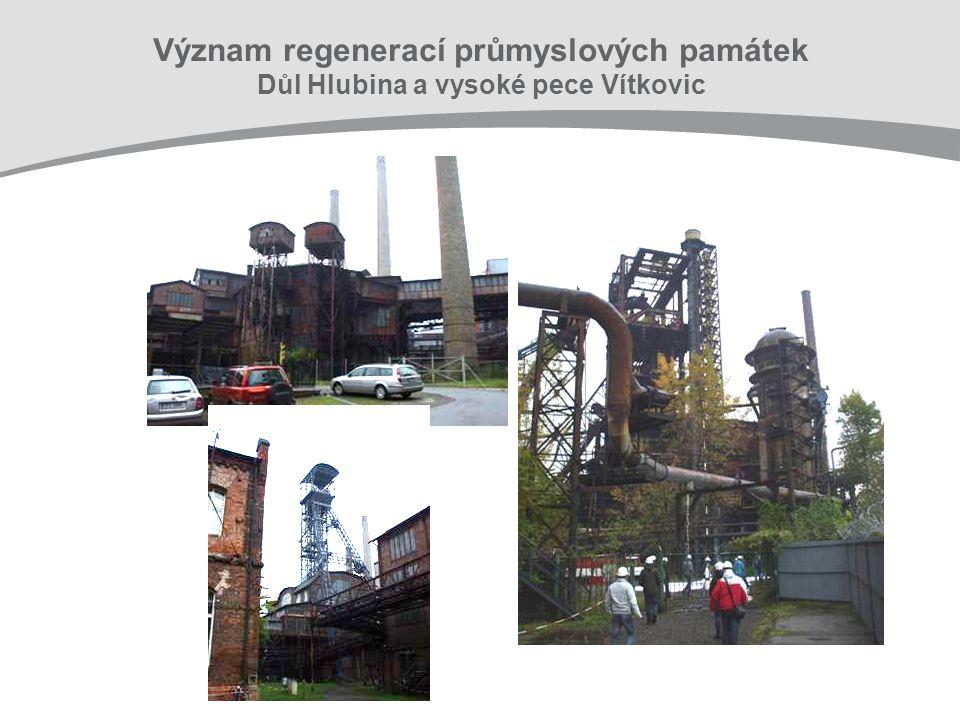 Význam regenerací průmyslových památek Důl Hlubina a vysoké pece Vítkovic