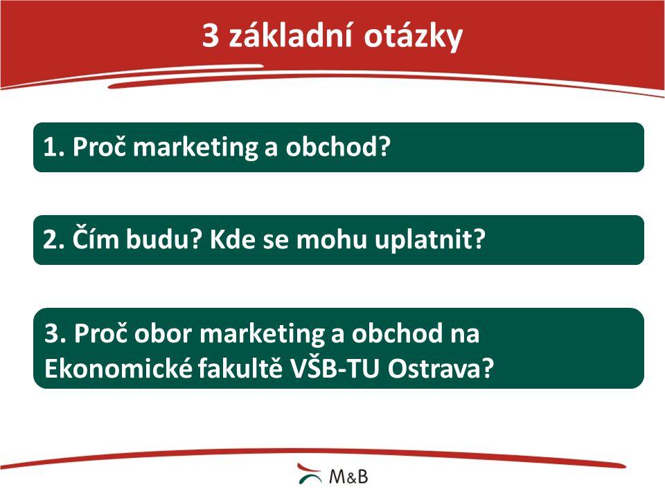 3 základní otázky 1. Proč marketing a obchod