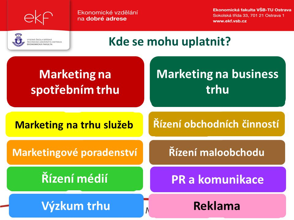 Marketing na spotřebním trhu Marketing na business trhu
