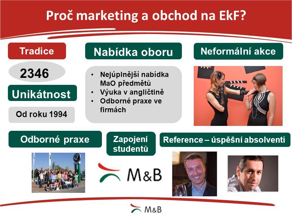 Proč marketing a obchod na EkF