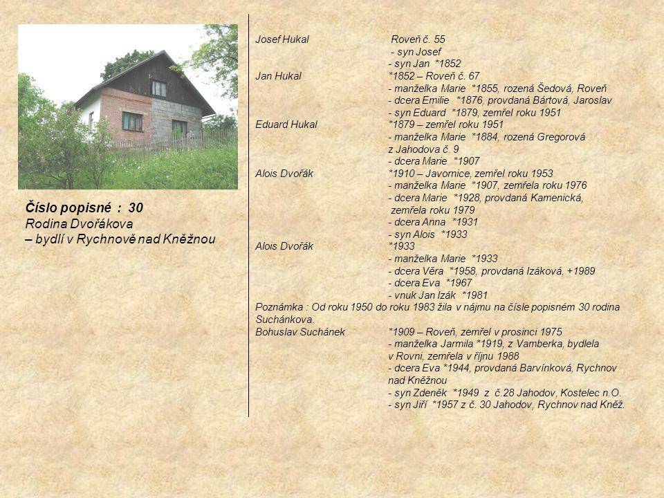 – bydlí v Rychnově nad Kněžnou