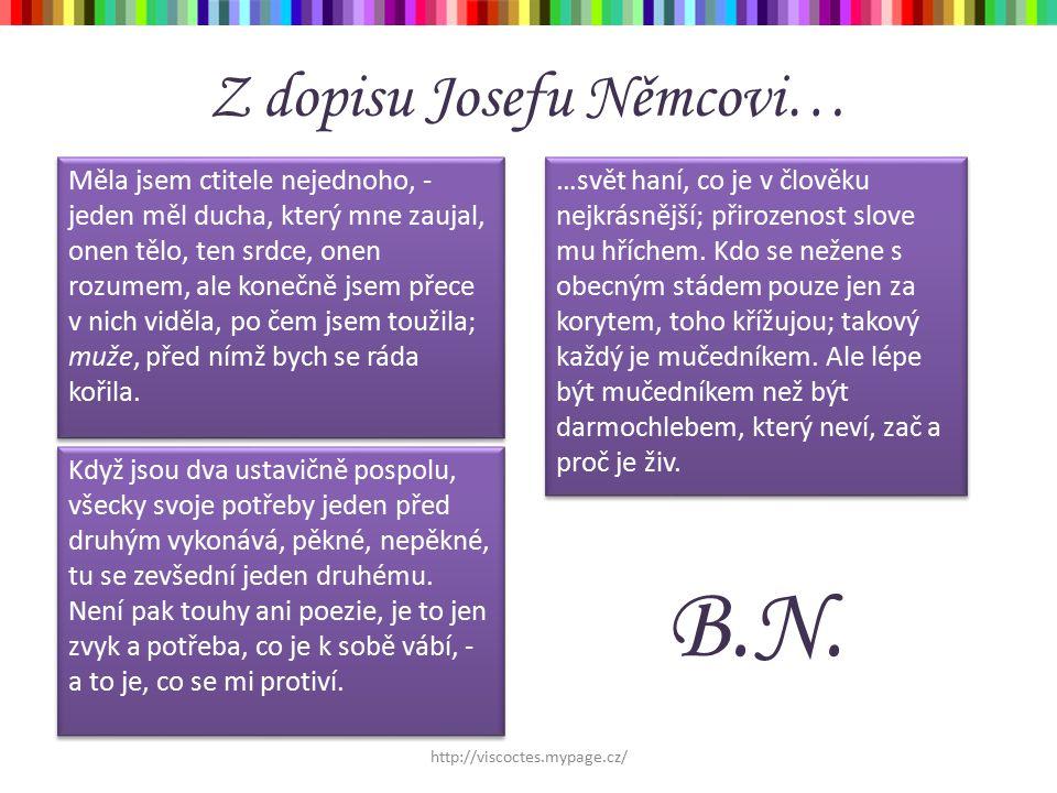 Z dopisu Josefu Němcovi…