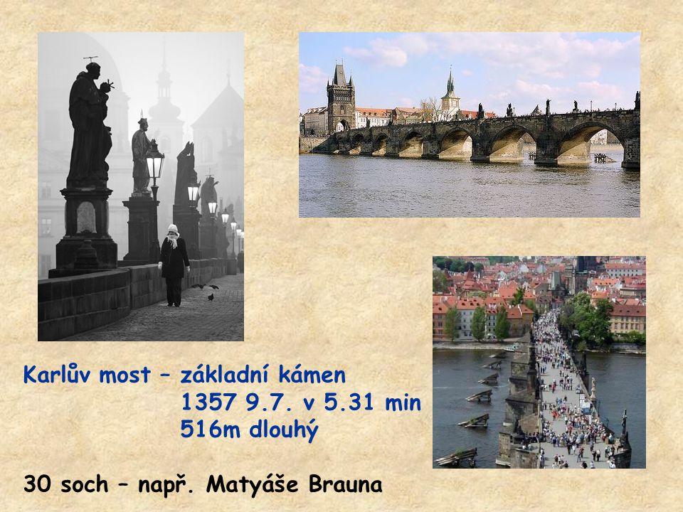 Karlův most – základní kámen